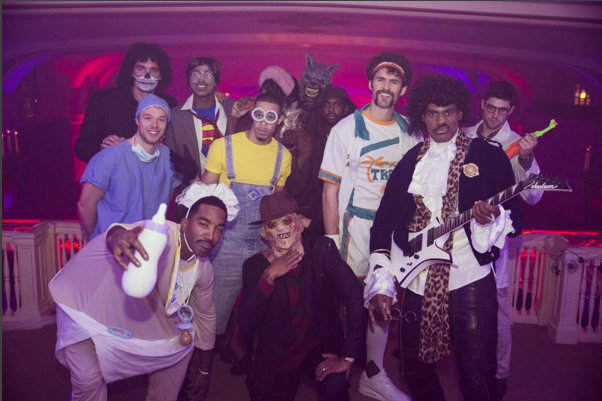A look back: LeBron James channels Prince this past Halloween