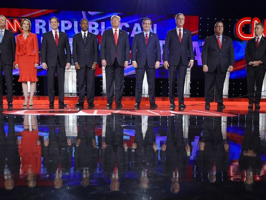 Fiorina left out of GOP debate