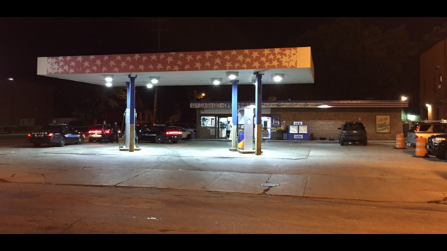 1 injured after shooting outside cleveland gas station for Cleveland gas station mural