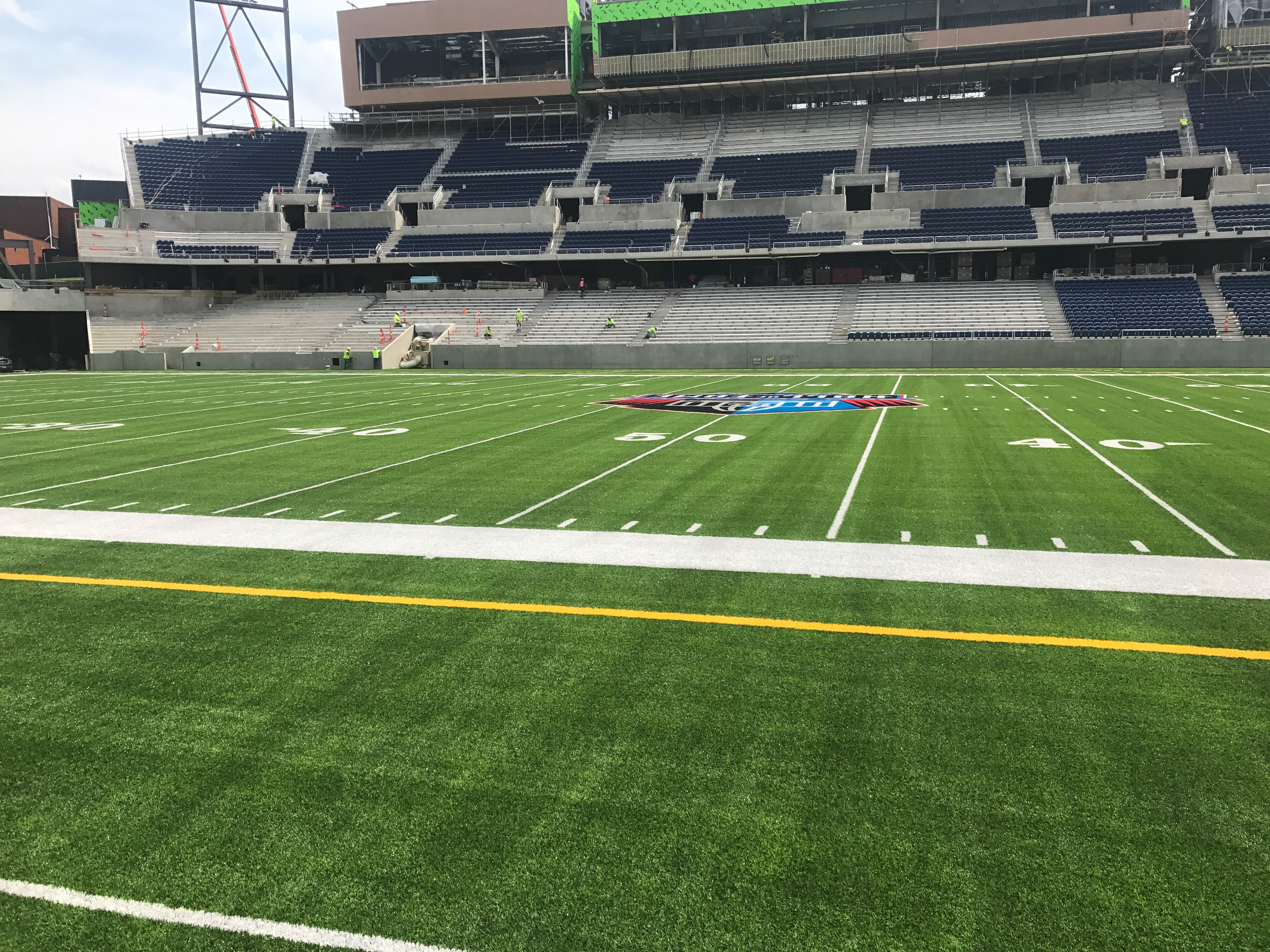crews working to get field ready for pro football hall of fame