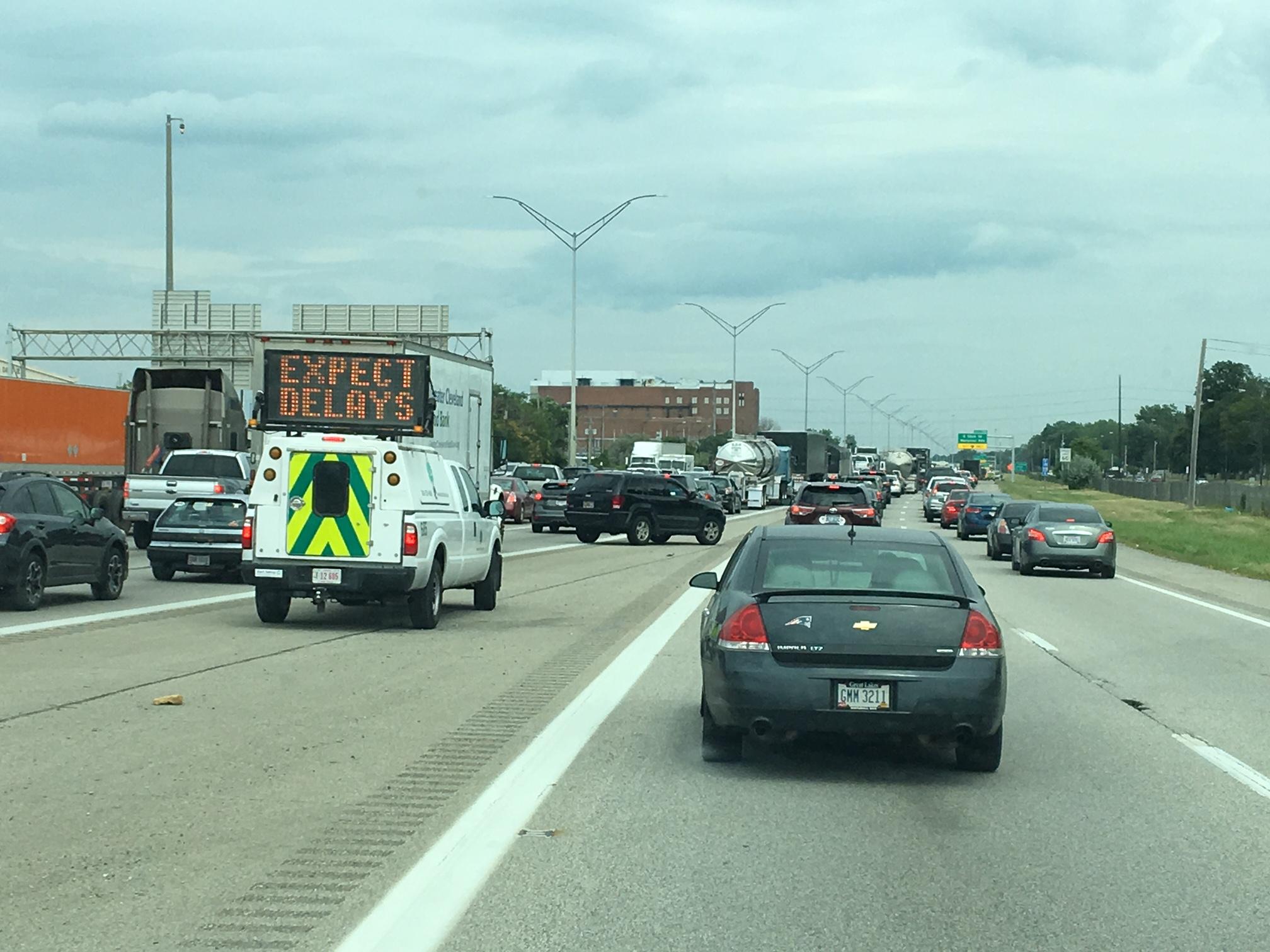 Accident closes lanes, backs up traffic on I-90   WKYC.com